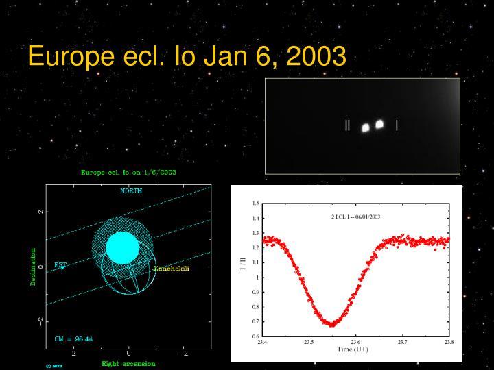 Europe ecl. Io Jan 6, 2003