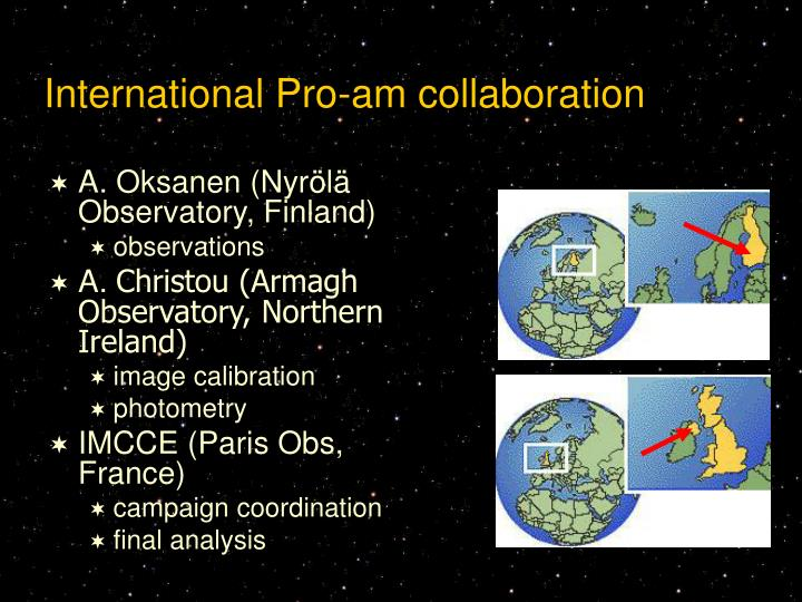 International Pro-am collaboration