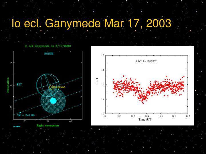 Io ecl. Ganymede Mar 17, 2003