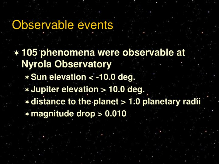 Observable events