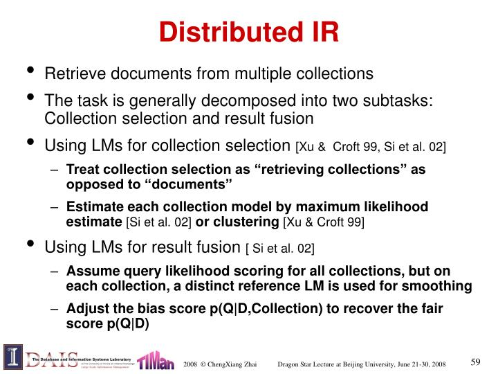 Distributed IR
