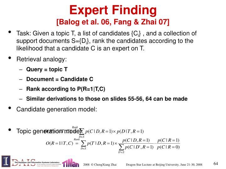 Expert Finding