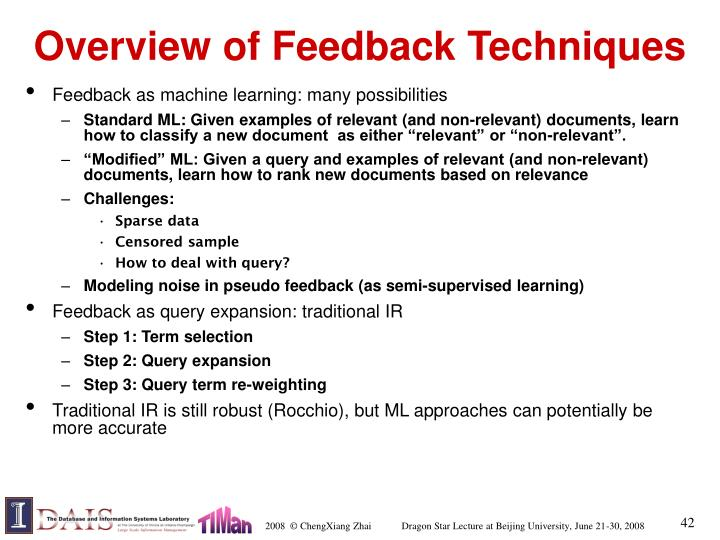 Overview of Feedback Techniques