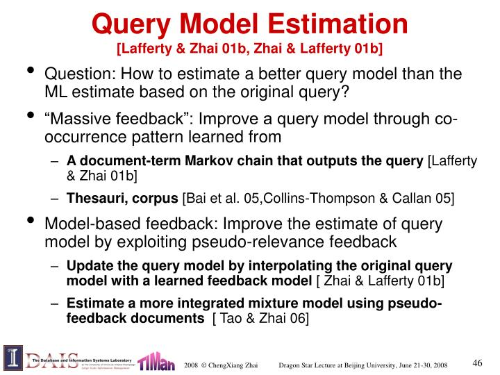 Query Model Estimation