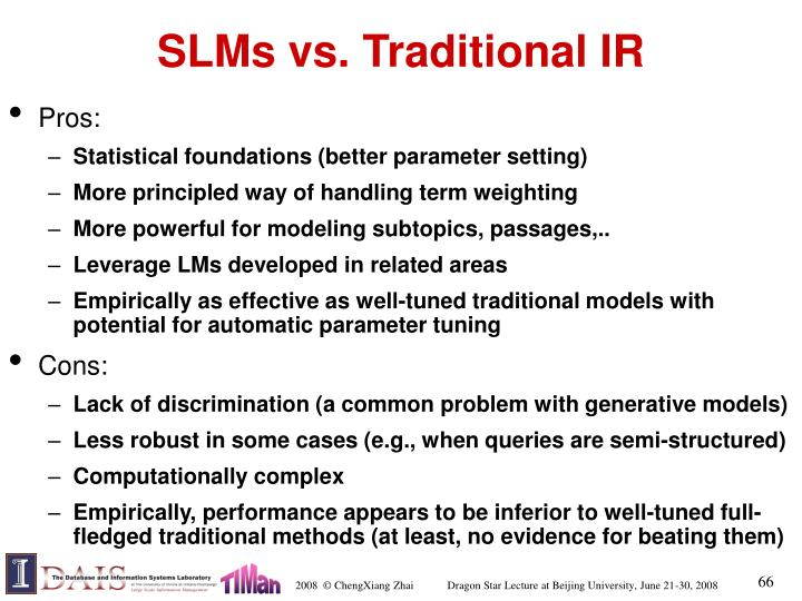 SLMs vs. Traditional IR