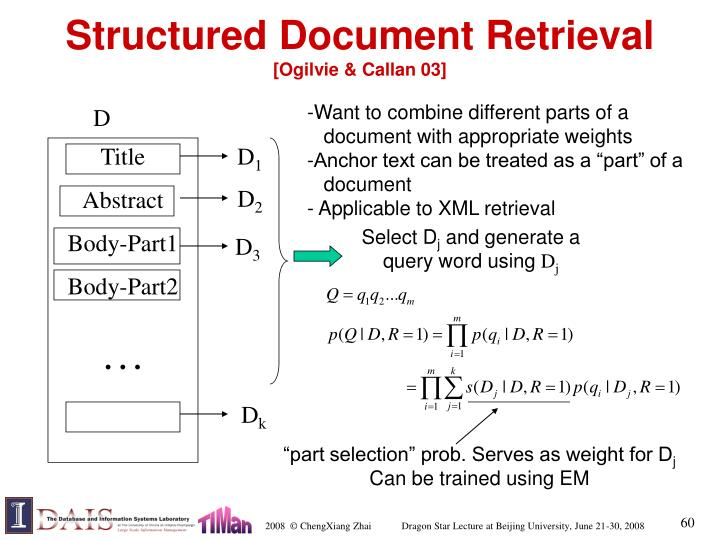 Structured Document Retrieval