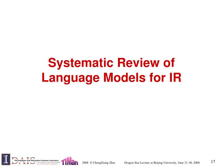 Systematic Review of