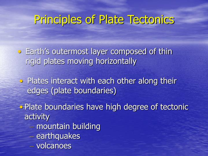 Principles of Plate Tectonics
