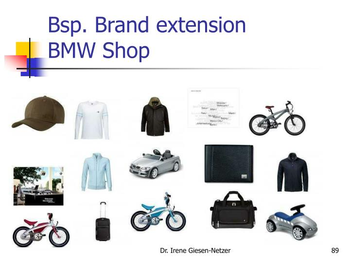 Bsp. Brand extension