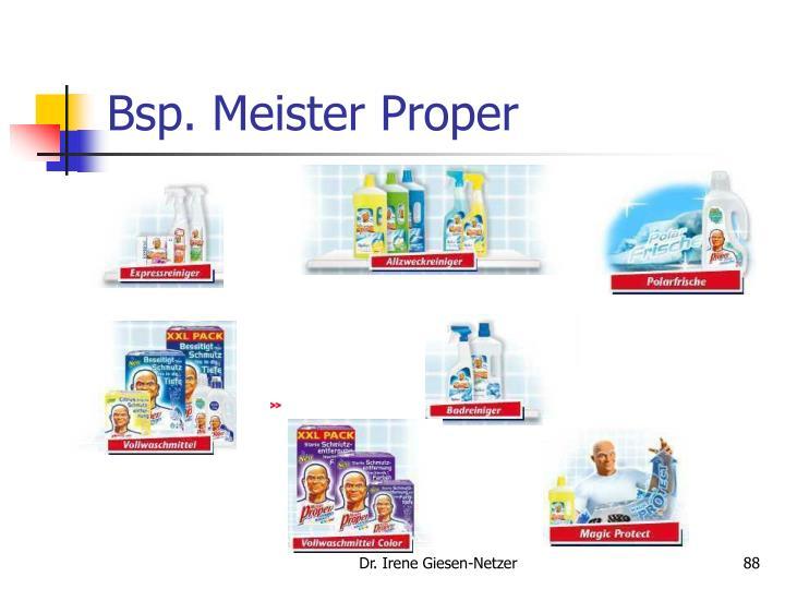 Bsp. Meister Proper