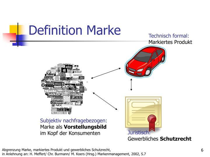 Definition Marke