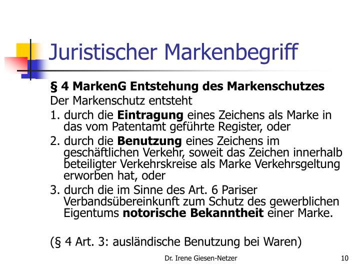 Juristischer Markenbegriff