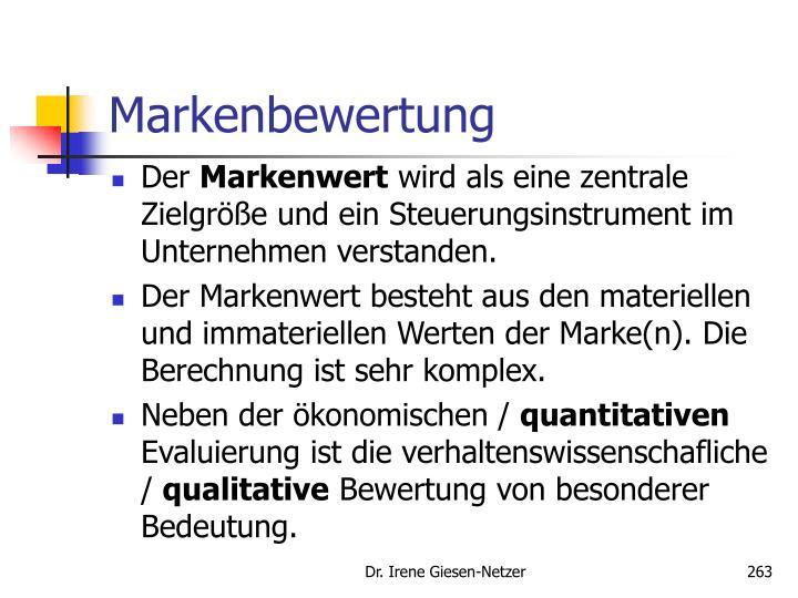 Markenbewertung