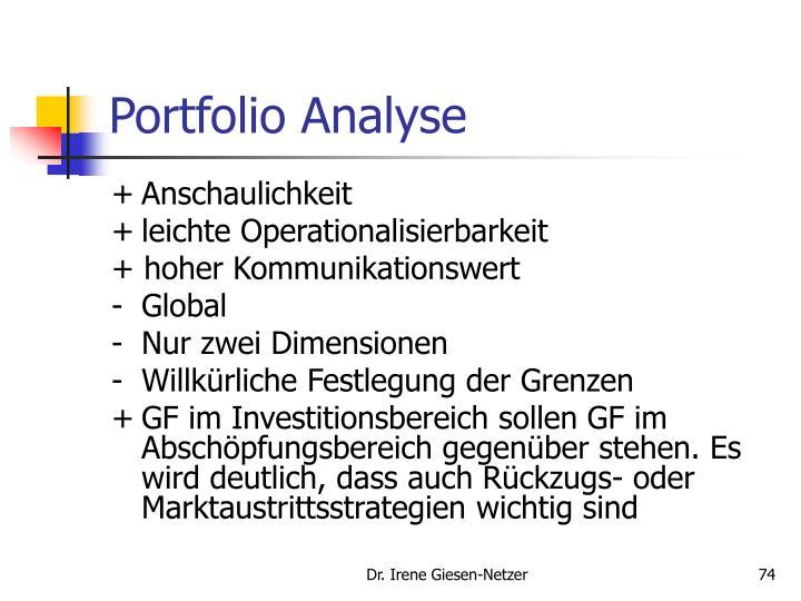 Portfolio Analyse