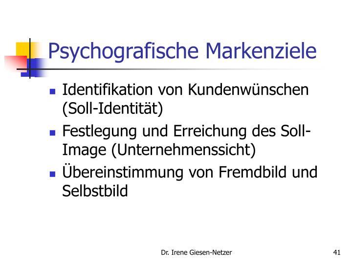 Psychografische Markenziele