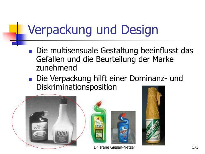Verpackung und Design
