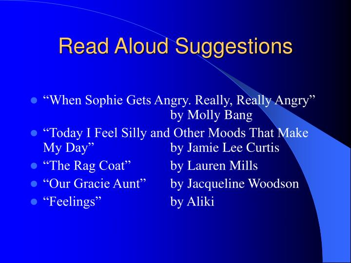 Read Aloud Suggestions