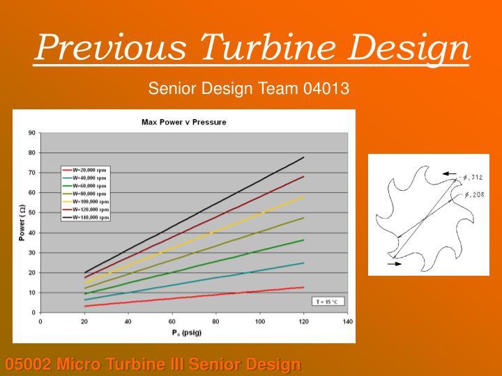 Previous Turbine Design