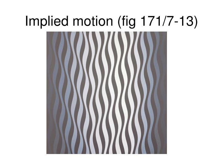 Implied motion (fig 171/7-13)
