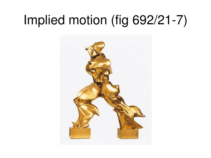 Implied motion (fig 692/21-7)