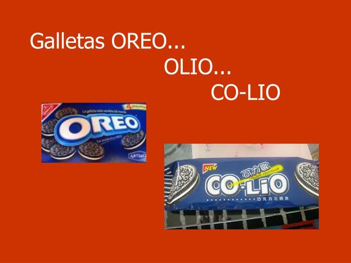 Galletas OREO...