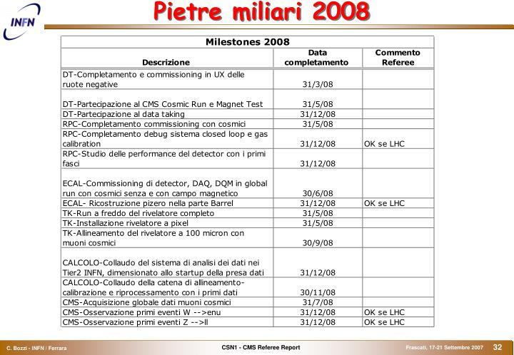 Pietre miliari 2008