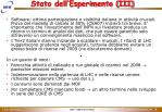 stato dell esperimento iii