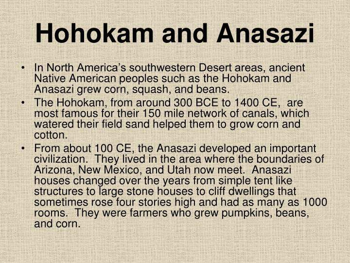 Hohokam and Anasazi