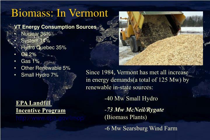 Biomass: In Vermont