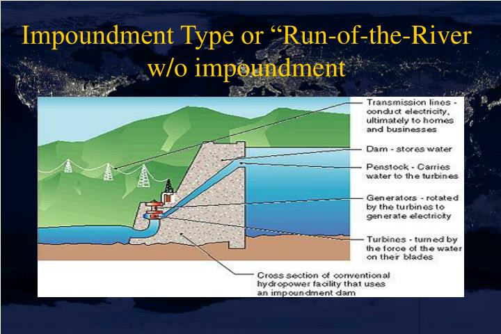 "Impoundment Type or ""Run-of-the-River w/o impoundment"