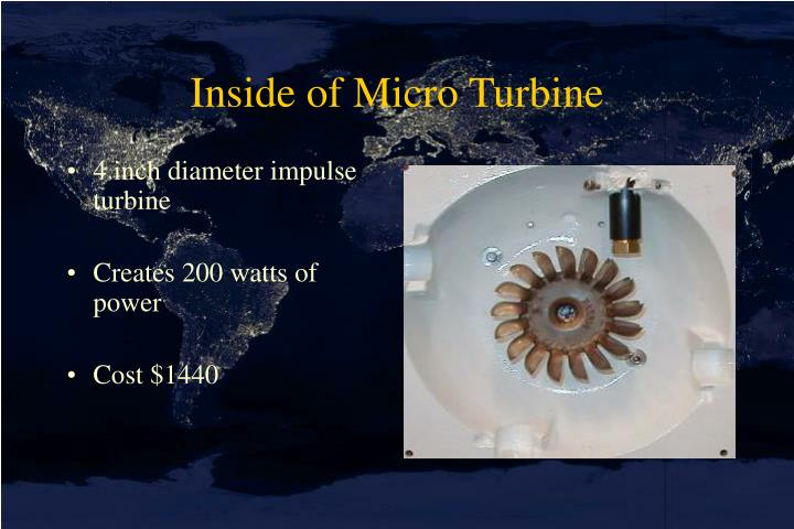 Inside of Micro Turbine