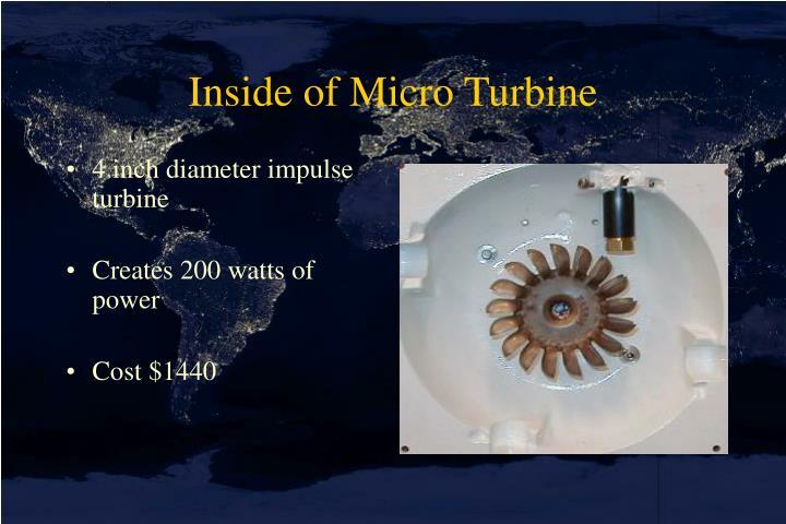 Inside of Micro Turbine