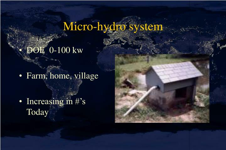 Micro-hydro system