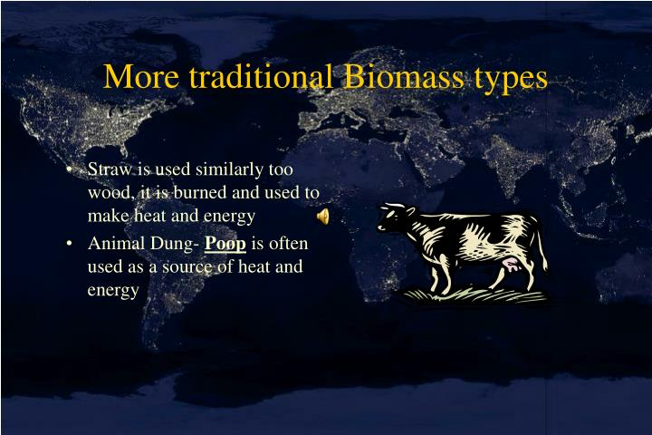 More traditional Biomass types