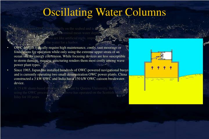 Oscillating Water Columns