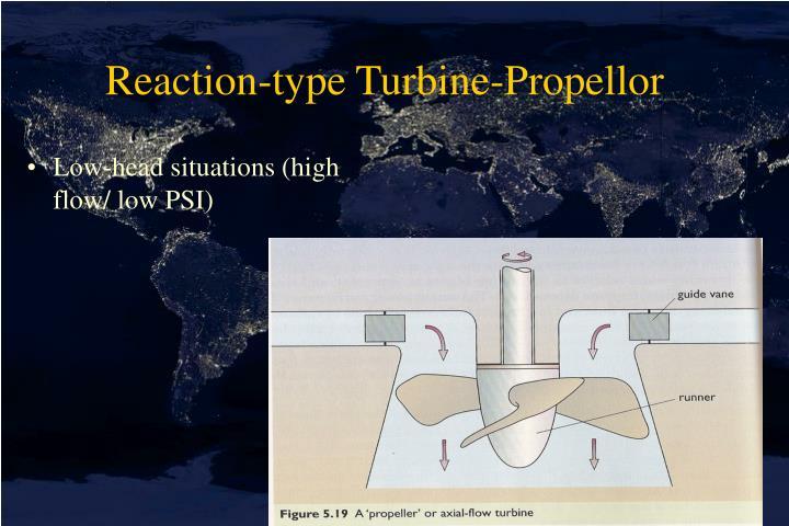 Reaction-type Turbine-Propellor