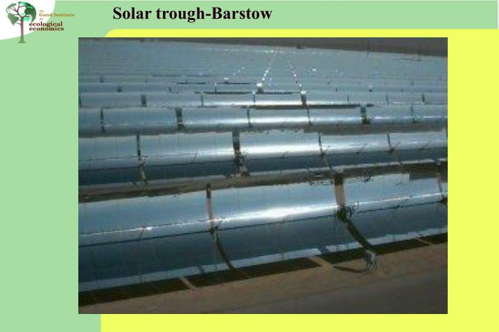 Solar trough-Barstow
