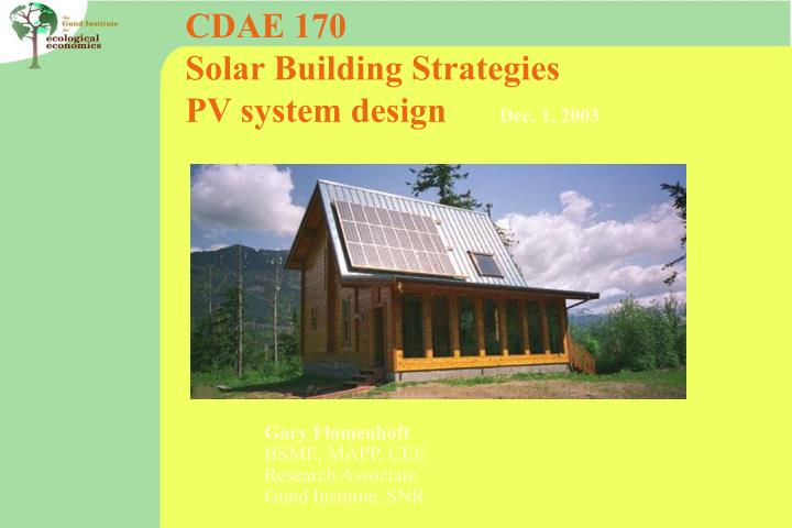 CDAE 170