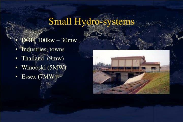 Small Hydro-systems