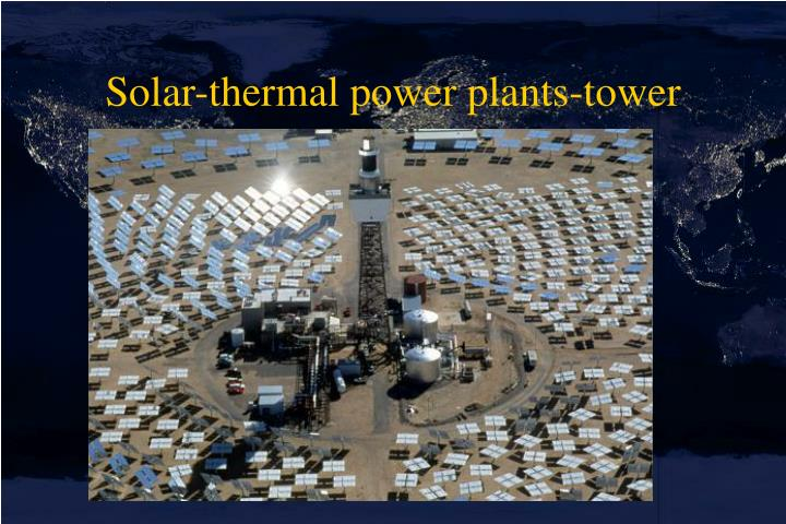 Solar-thermal power plants-tower