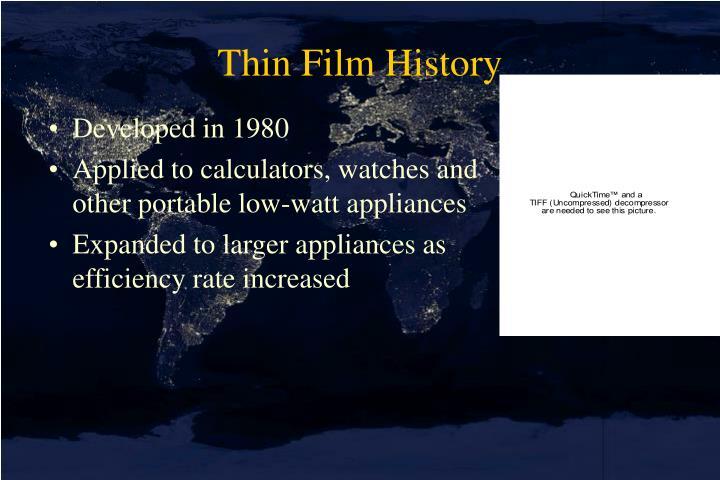 Thin Film History