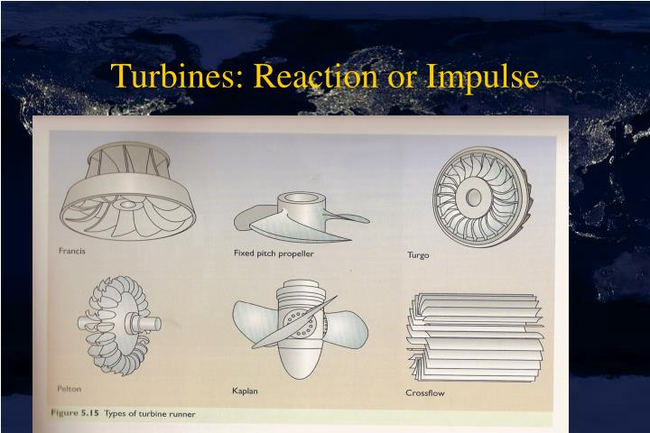 Turbines: Reaction or Impulse