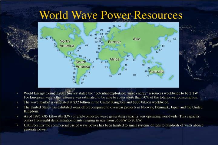 World Wave Power Resources