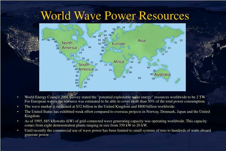 World Wave Power Resources