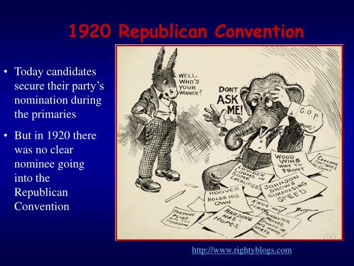 1920 Republican Convention