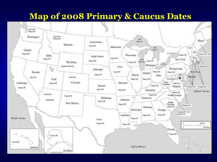 Map of 2008 Primary & Caucus Dates