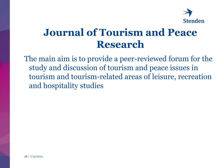 Journal of Tourism and Peace Research
