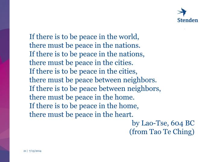 If there is to be peace in the world,