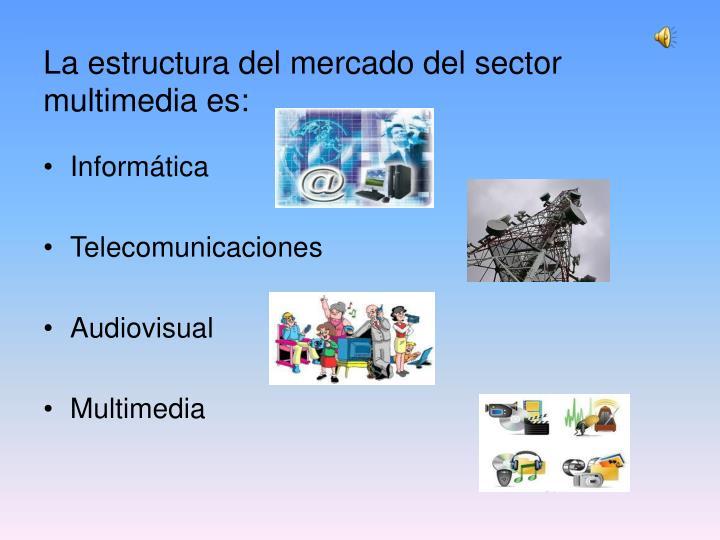 La estructura del mercado del sector multimedia es: