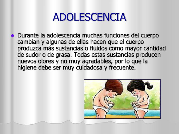 ADOLESCENCIA